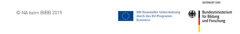 Logo Erasmusplus und Logo Bundesministerium für Bildung und Forschung