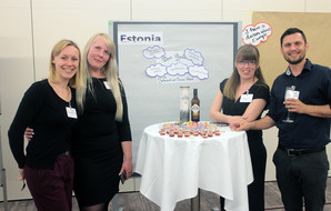 NA staff meet Estonian participants at the European Fair.