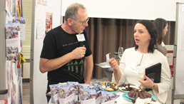 Lithuanian participants offer sweets and ideas at the European Fair.