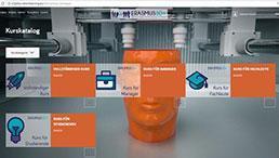Plattform des Erasmus+ Projekts für 3D-Druck