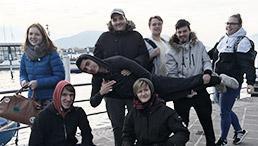 Schüler der August-Wagner-Schule in Italien