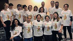 Gruppenbild der Teilnehmenden am Erasmus+-Projekt