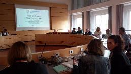 Erasmus+-Teilnehmende im Seminarraum