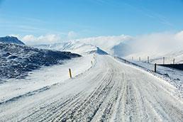 Schneelandschaft Island